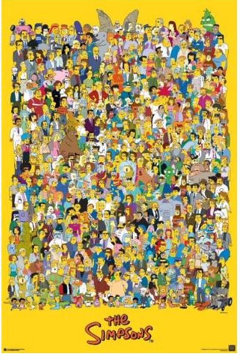 The Simpsons - Cast Poster   Merchandise