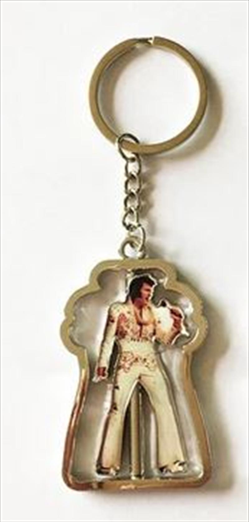 Elvis Spinner White Jumpsuit Keyring | Accessories