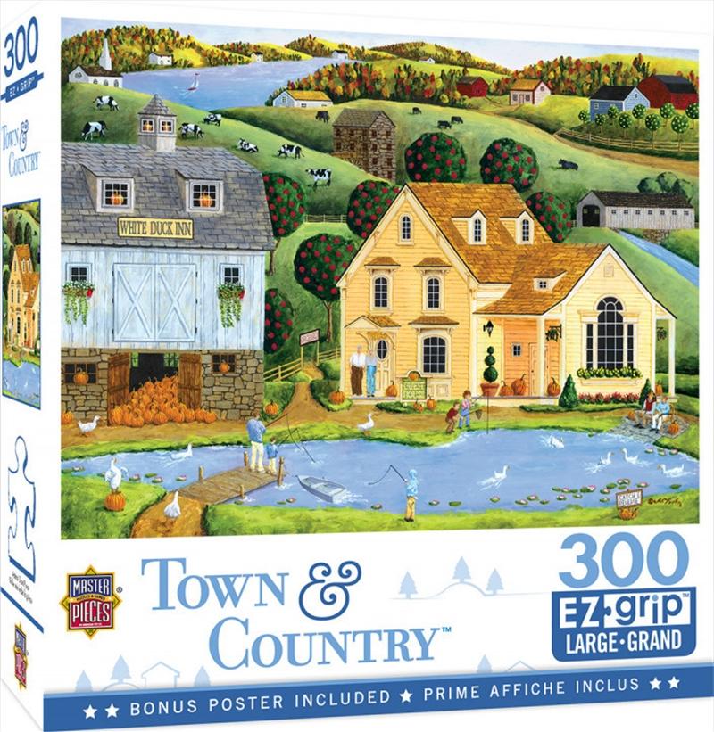 Masterpieces Puzzle Town & Country The White Duck Inn Ez Grip Puzzle 300 pieces | Merchandise