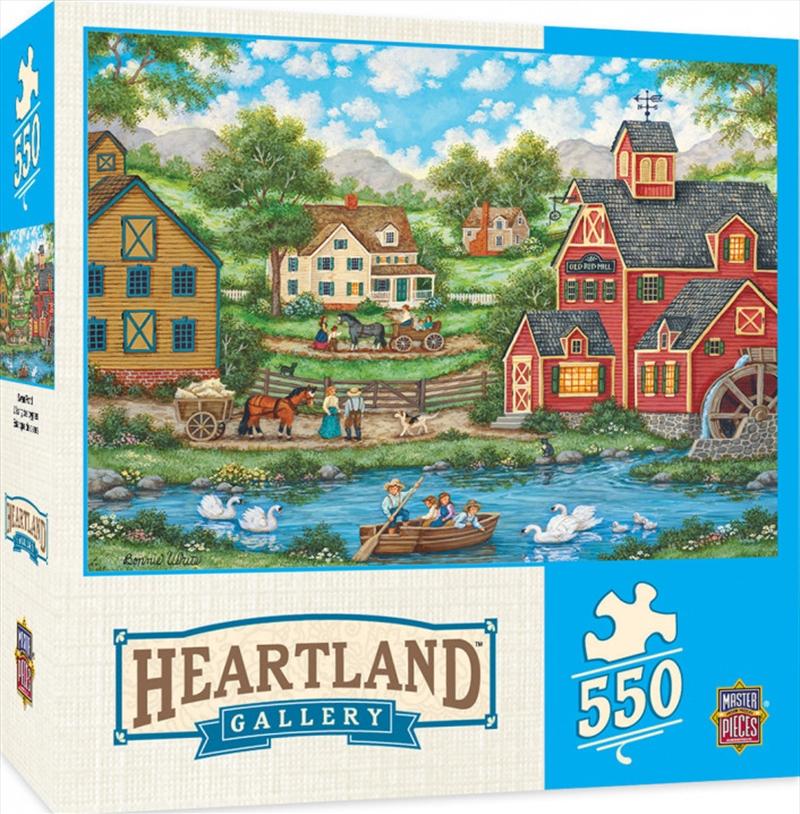 Masterpieces Puzzle Heartland Collection Swan Pond Puzzle 550 pieces | Merchandise