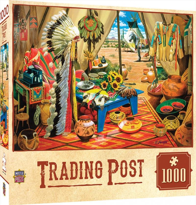 Masterpieces Puzzle Tribal Spirit Trading Post Puzzle 1,000 pieces | Merchandise