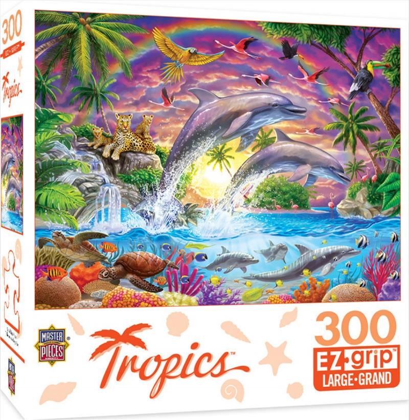 Masterpieces Puzzle Tropics Fantasy Isle Ez Grip Puzzle 300 pieces   Merchandise