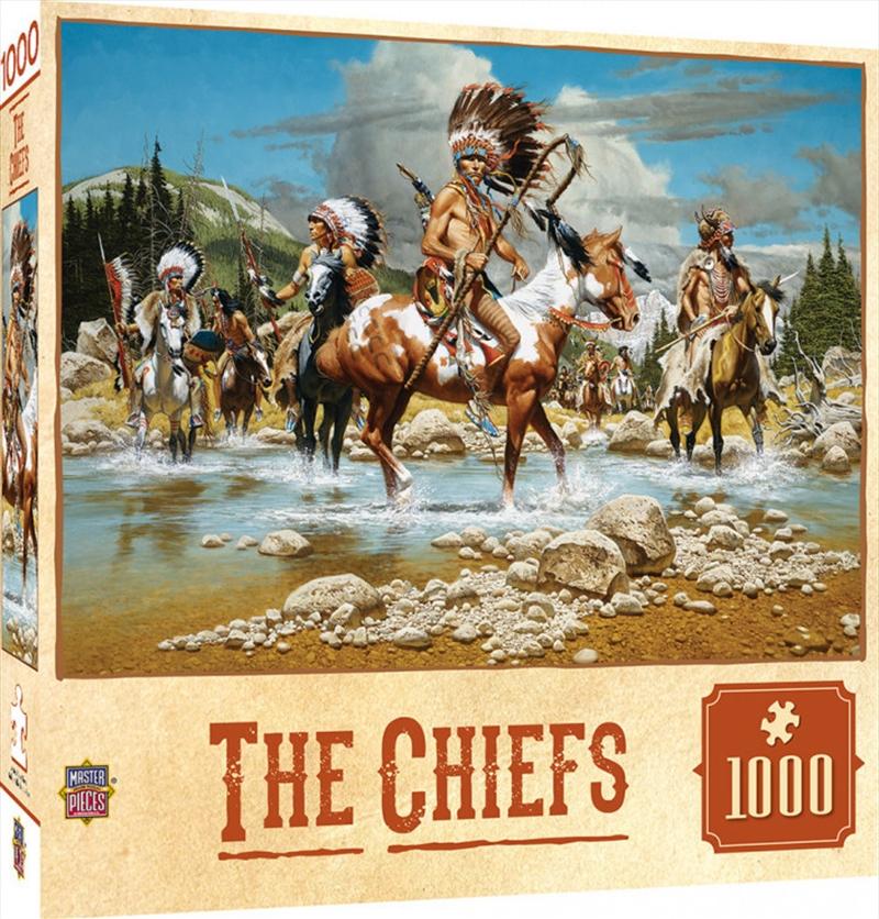Masterpieces Puzzle Tribal Spirit The Chiefs Puzzle 1,000 pieces   Merchandise