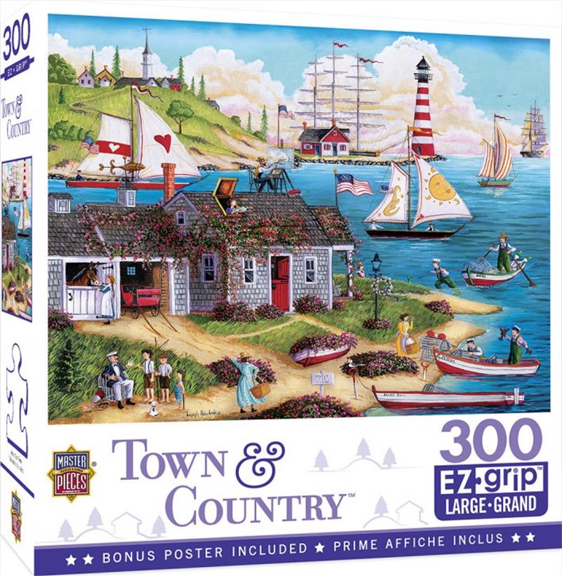 Masterpieces Puzzle Town & Country Painter's Point Ez Grip Puzzle 300 pieces   Merchandise