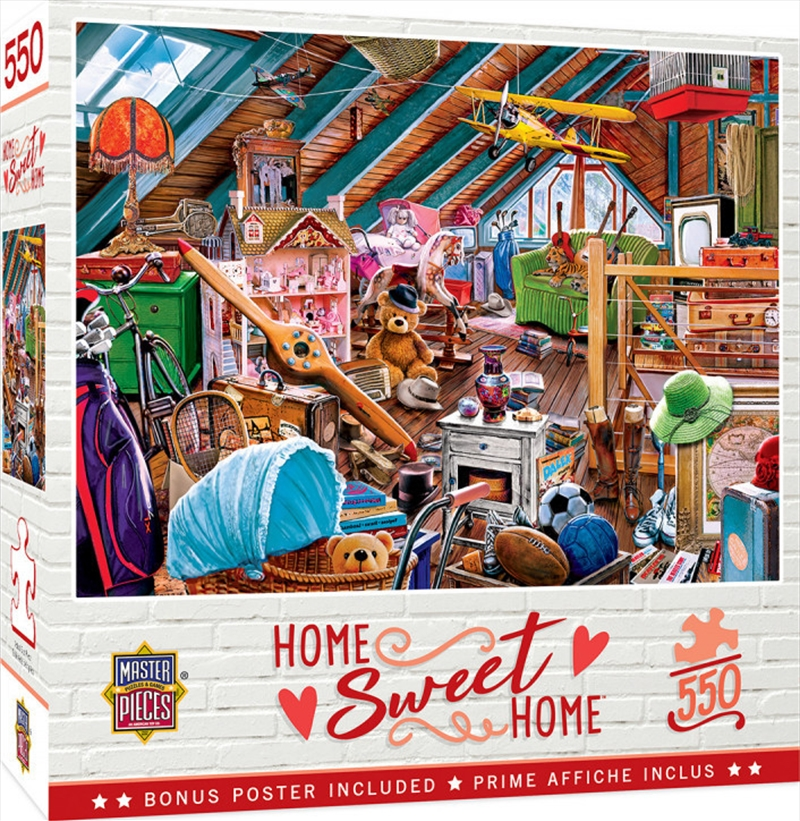 Masterpieces Puzzle Home Sweet Home Attic Secrets Puzzle 550 pieces   Merchandise