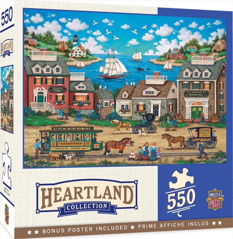 Masterpieces Puzzle Heartland Collection Oceanside Trolley Puzzle 550 pieces | Merchandise