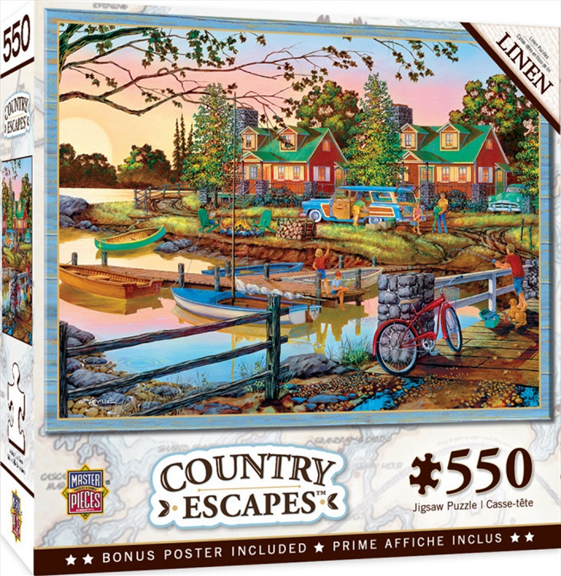 Masterpieces Puzzle Country Escapes Away from It All Puzzle 550 pieces   Merchandise