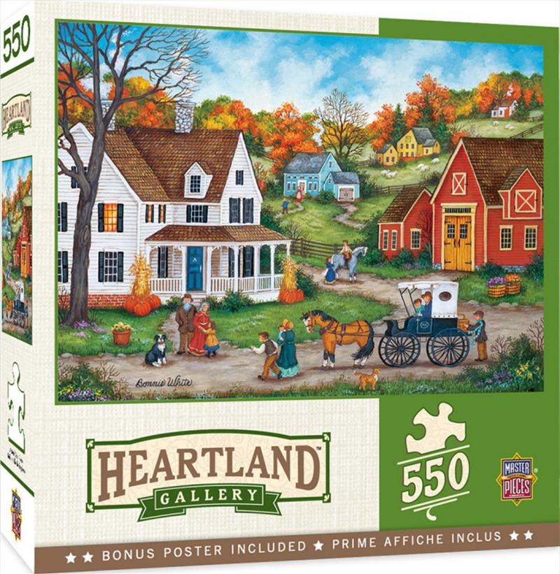 Masterpieces Puzzle Heartland Collection Dinner at Grandmas Puzzle 550 pieces   Merchandise