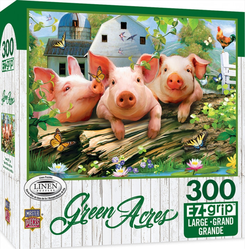Masterpieces Puzzle Green Acres Three Lil' Pigs Ez Grip Puzzle 300 pieces | Merchandise