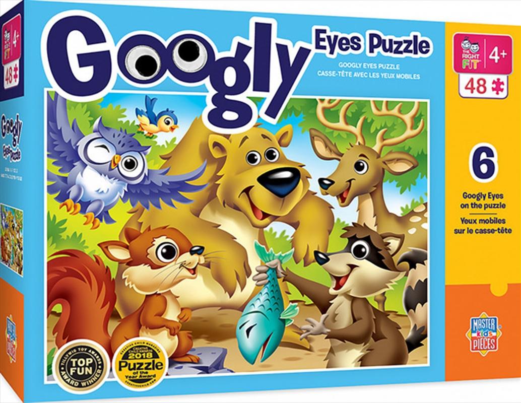 Masterpieces Puzzle Googly Eyes Woodland Animals Puzzle 48 pieces   Merchandise