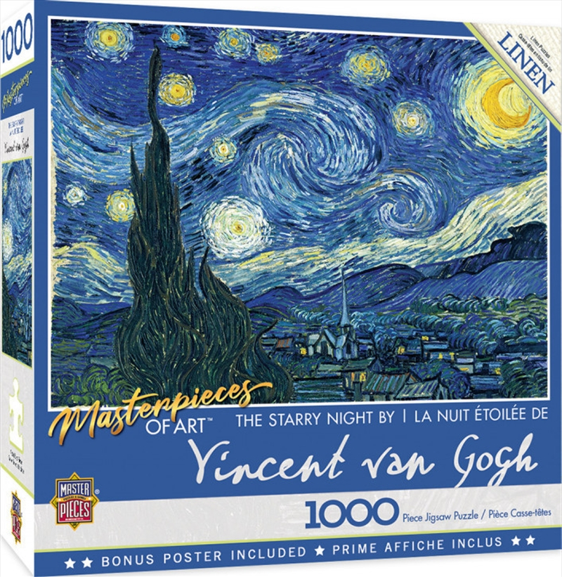 Masterpieces Puzzle Masterpieces of Art Starry Night Puzzle 1,000 pieces   Merchandise