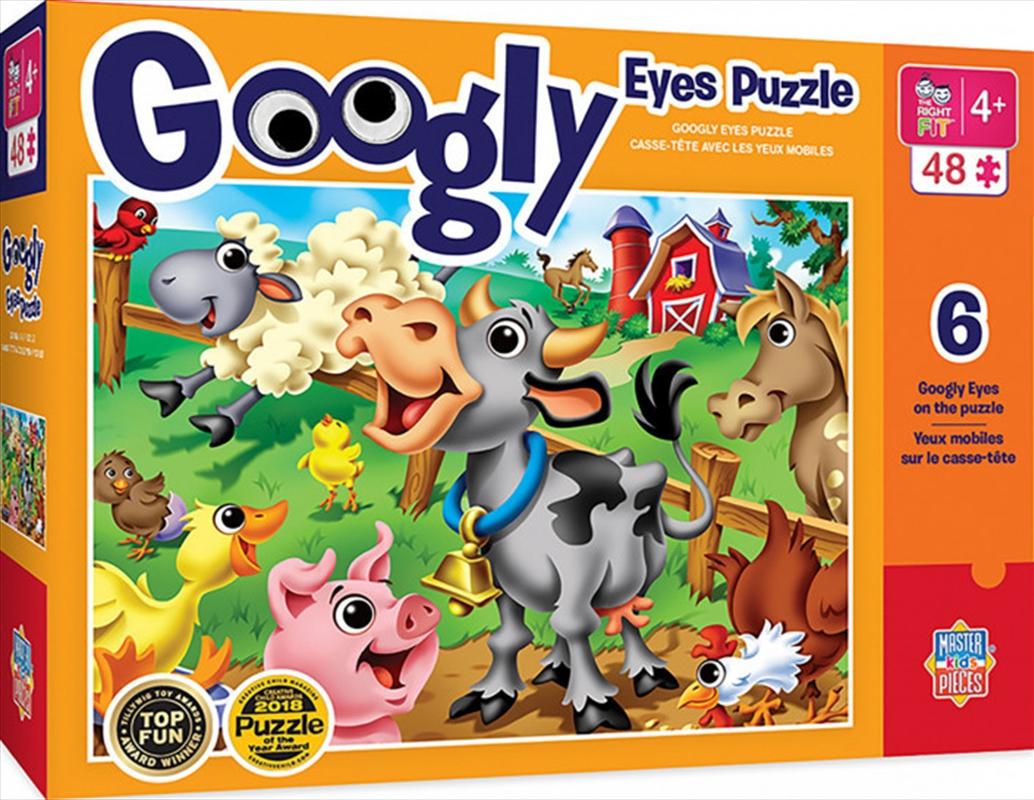 Masterpieces Puzzle Googly Eyes Farm Animals Puzzle 48 pieces | Merchandise