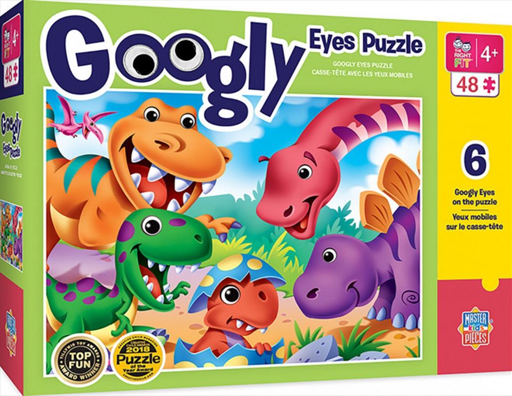 Masterpieces Puzzle Googly Eyes Dinos Puzzle 48 pieces   Merchandise