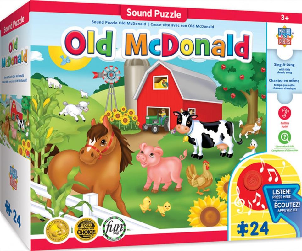 Masterpieces Puzzle Educational Sing-a-Long Old McDonald Puzzle 24 pieces   Merchandise