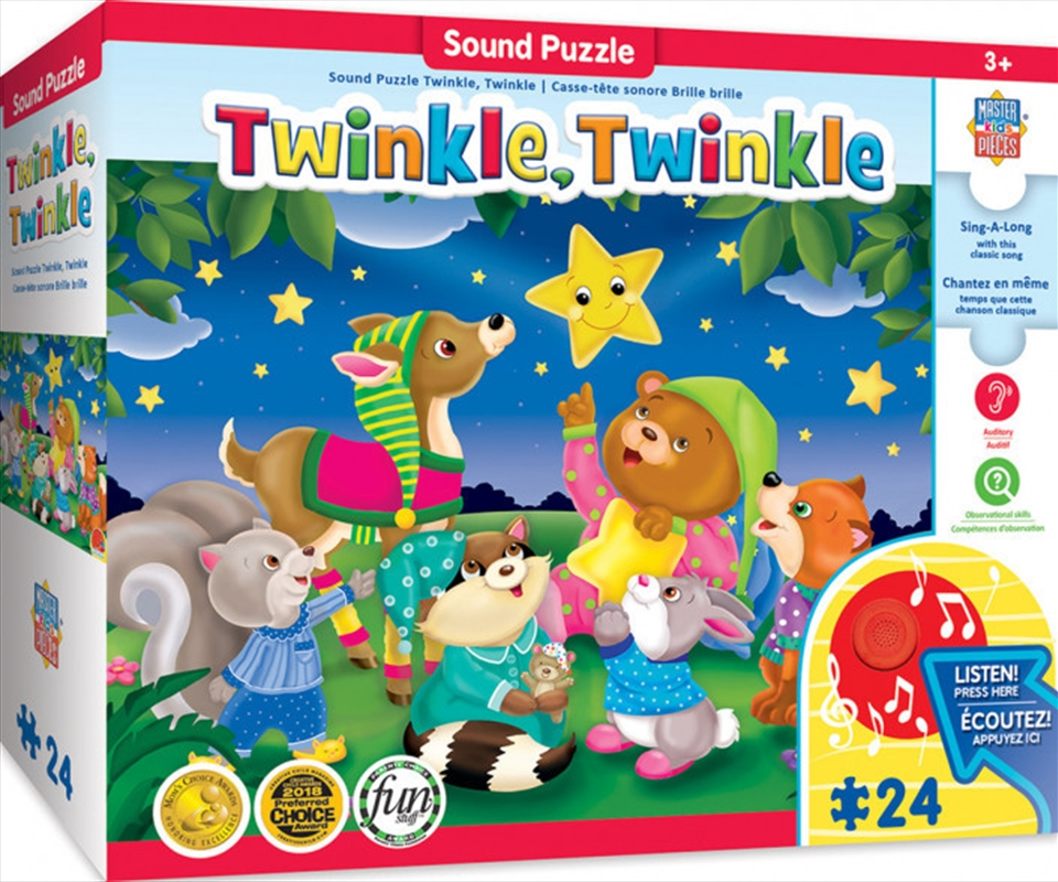 Masterpieces Puzzle Educational Sing-a-Long Twinkle Twinkle Puzzle 24 pieces   Merchandise