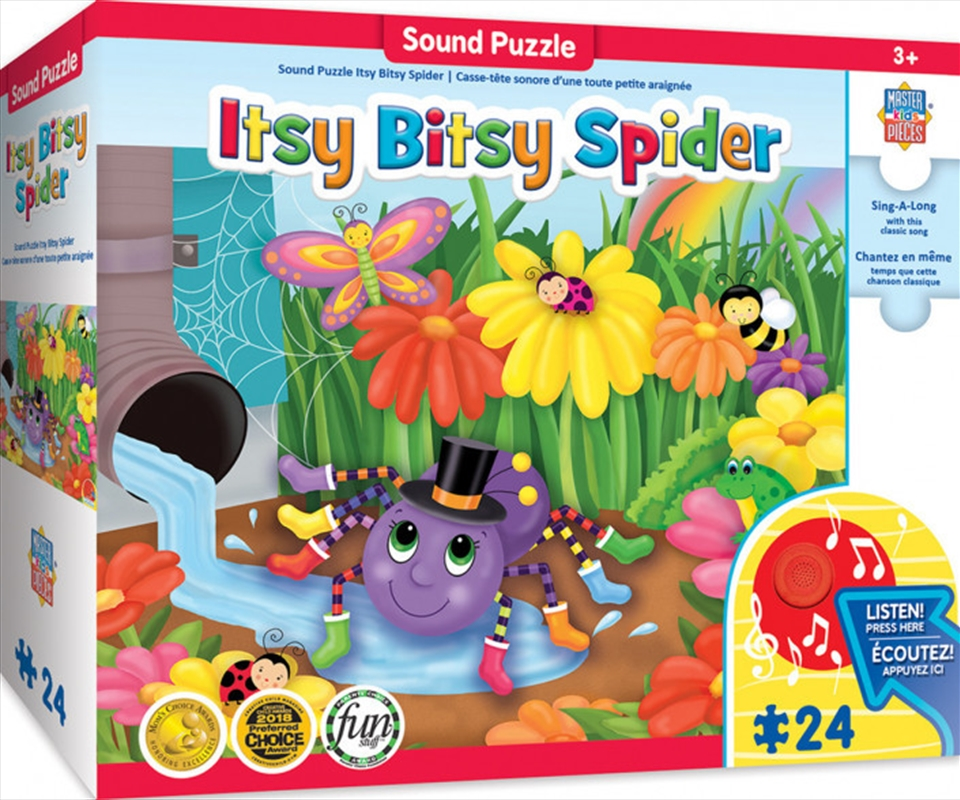 Masterpieces Puzzle Educational Sing-a-Long The Itsy, Bitsy Spider Puzzle 24 pieces   Merchandise