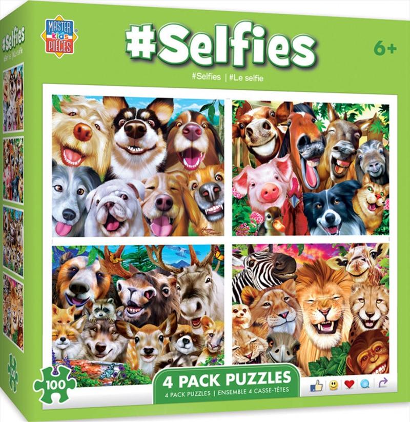 Masterpieces Puzzle 4 Pack Selfies Puzzle 100 pieces   Merchandise