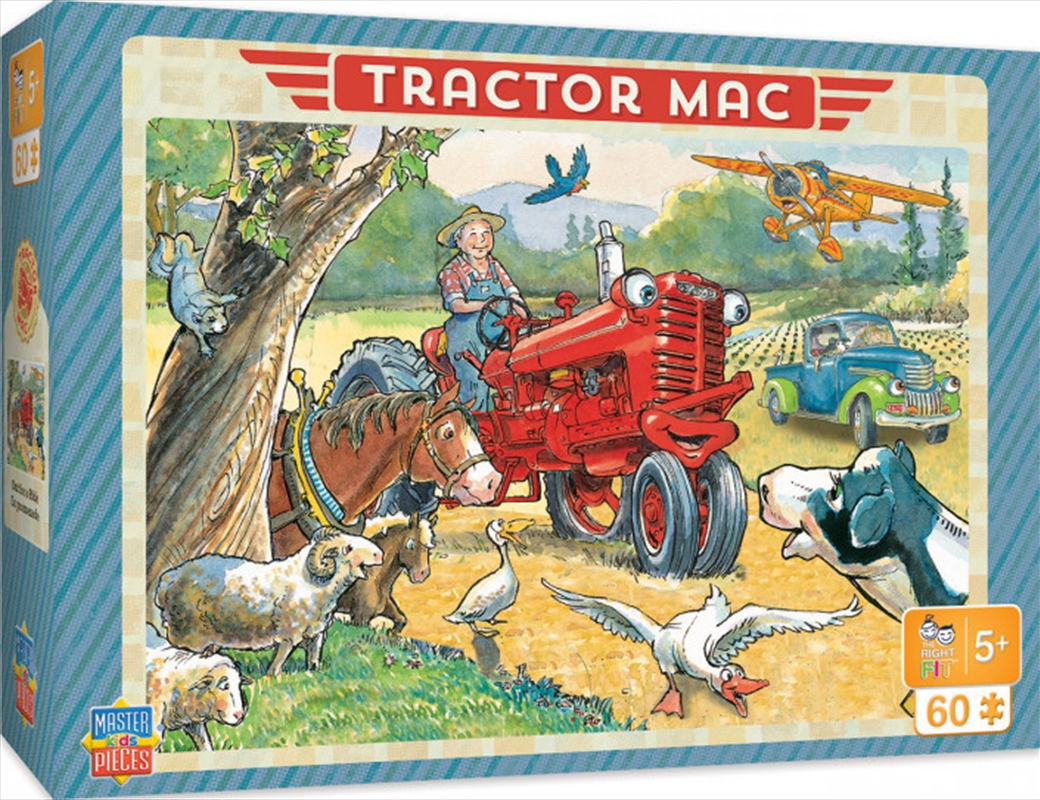 Masterpieces Puzzle Tractor Mac Out for a Ride Puzzle 60 pieces   Merchandise
