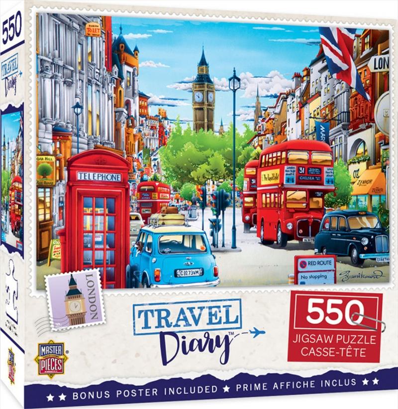 Masterpieces Puzzle Travel Diary London Puzzle 550 pieces | Merchandise