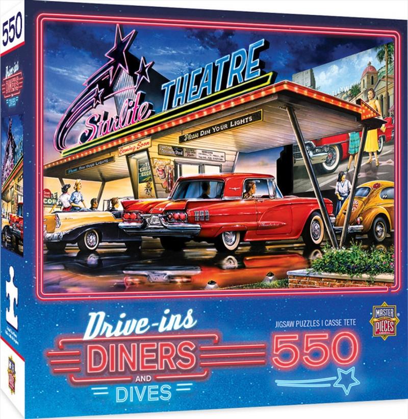 Masterpieces Puzzle Drive Ins, Diners & Dives Starlite Theatre Puzzle 550 pieces | Merchandise
