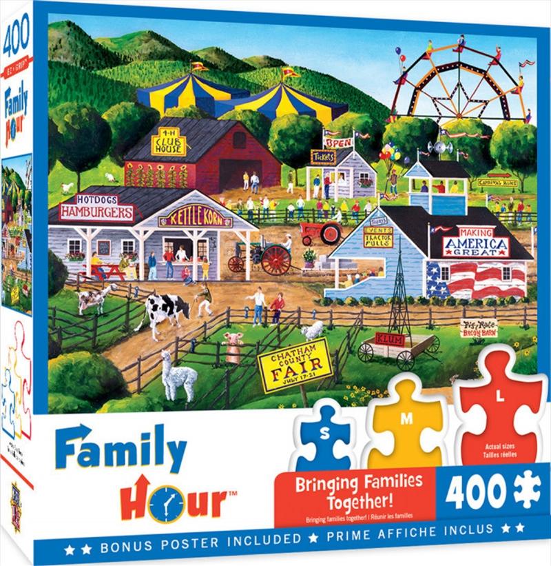 Masterpieces Puzzle Family Hour Summer Carnival Ez Grip Puzzle 400 pieces | Merchandise