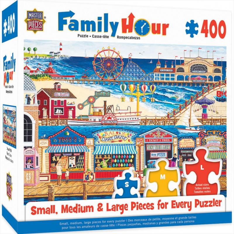 Masterpieces Puzzle Family Hour Ocean Park Ez Grip Puzzle 400 pieces | Merchandise