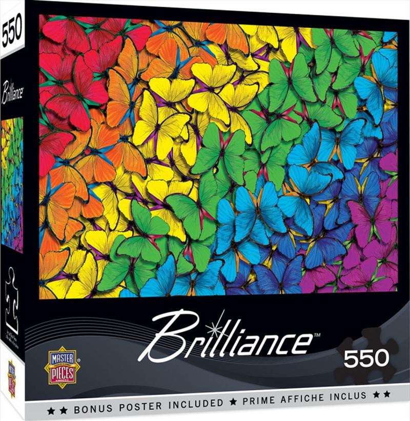 Masterpieces Puzzle Brilliance Collection Fluttering Rainbow Puzzle 550 pieces | Merchandise