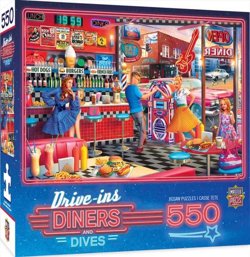 Masterpieces Puzzle Drive Ins, Diners & Dives Good Times Diner Puzzle 550 pieces   Merchandise
