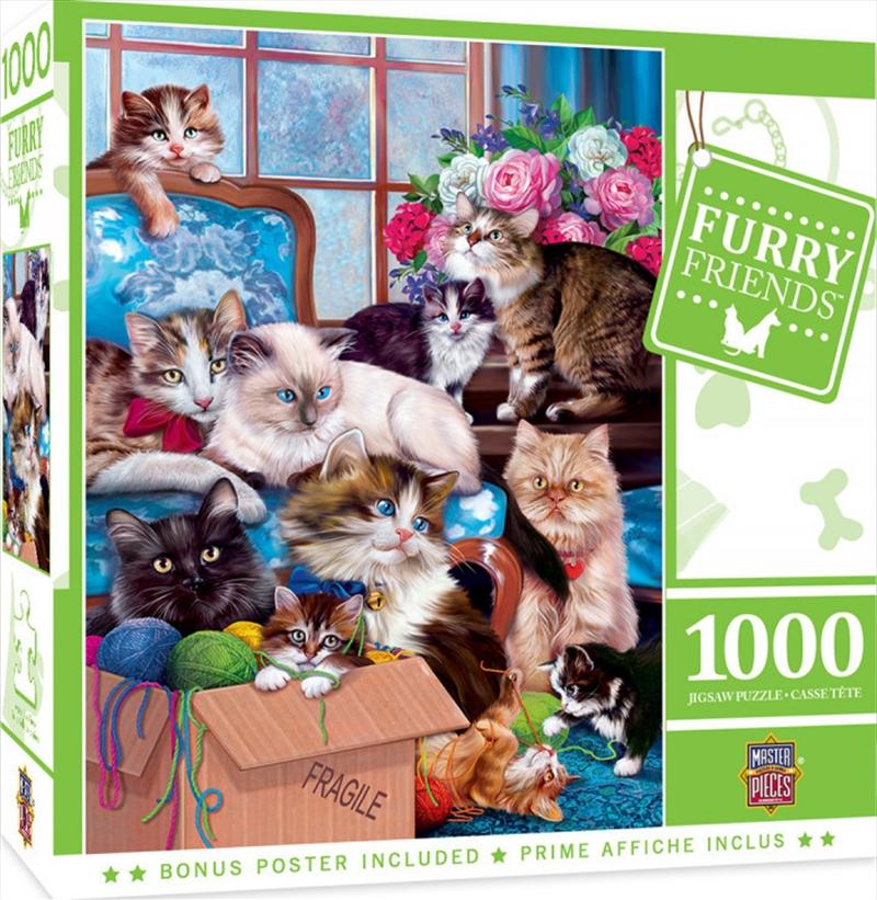 Masterpieces Puzzle Furry Friends Trouble Makers Puzzle 1,000 pieces   Merchandise