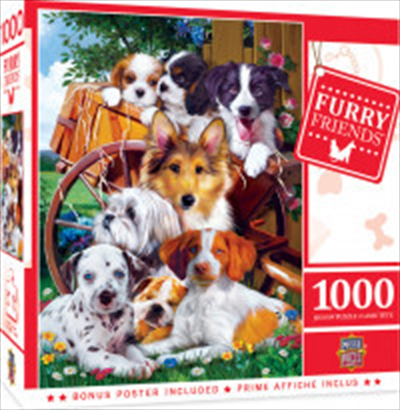 Masterpieces Puzzle Furry Friends Ready for Work Puzzle 1,000 pieces | Merchandise