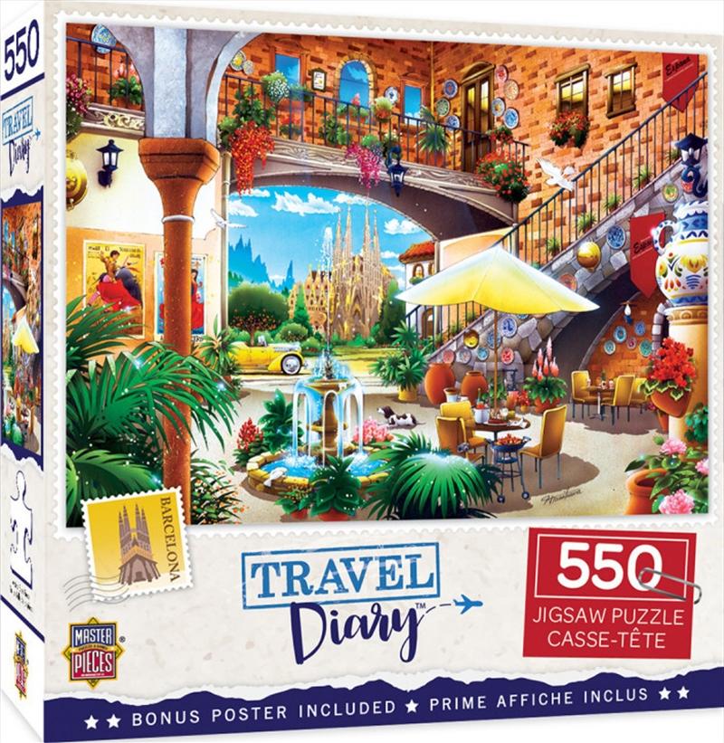 Masterpieces Puzzle Travel Diary Barcelona Puzzle 550 pieces   Merchandise