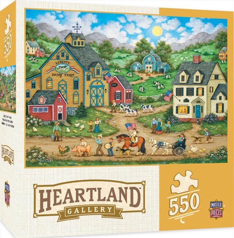 Masterpieces Puzzle Heartland Collection Liberty Farm Parade Puzzle 550 pieces | Merchandise