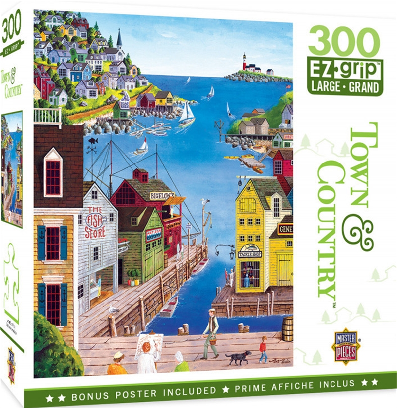 Masterpieces Puzzle Town & Country A Walk on the Pier Ez Grip Puzzle 300 pieces   Merchandise