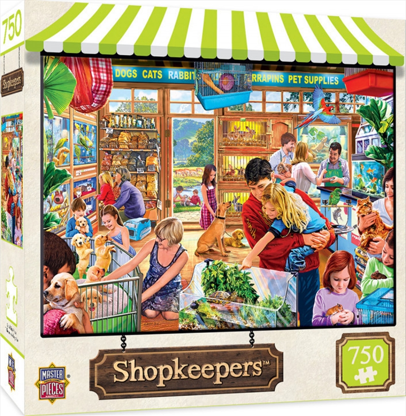 Masterpieces Puzzle Shopkeepers Lucy's First Pet Puzzle 750 pieces | Merchandise