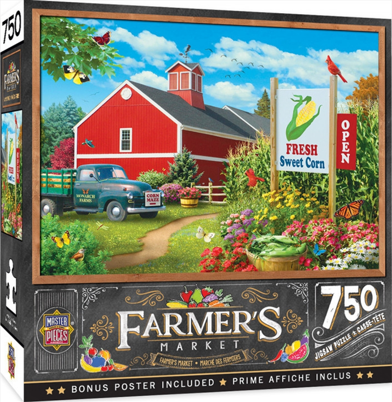 Masterpieces Puzzle Farmers Market Country Heaven Puzzle 750 pieces | Merchandise