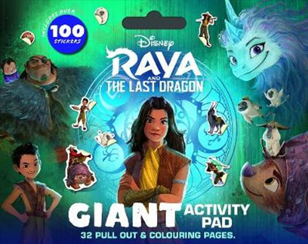 Raya And The Last Dragon Giant Activity Pad   Paperback Book