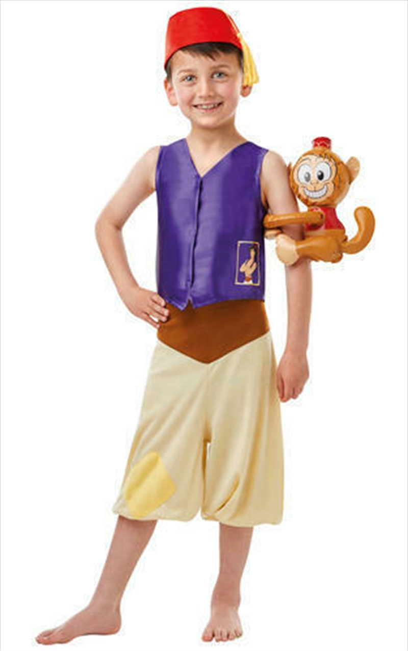 Aladdin Deluxe Costume: Size Large 7-8 Years   Apparel