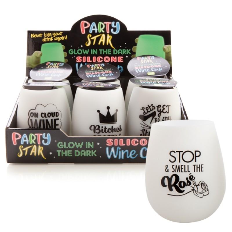 Glow In The Dark Wine Cup - One Design Chosen At Random | Merchandise