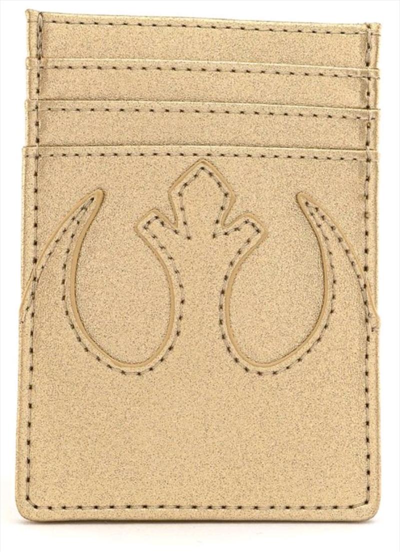 Loungefly - Star Wars - Rebel Gold Card Holder   Apparel