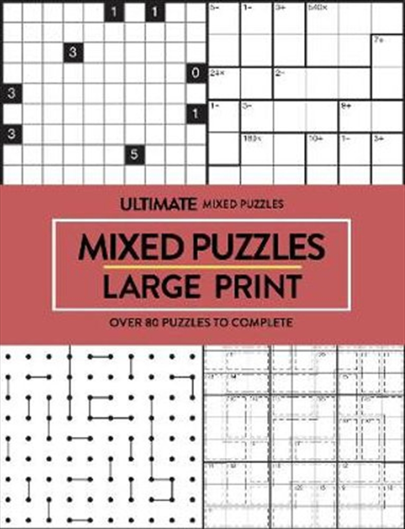 Mixed Puzzles Ultimate Puzzles - Large Print | Paperback Book