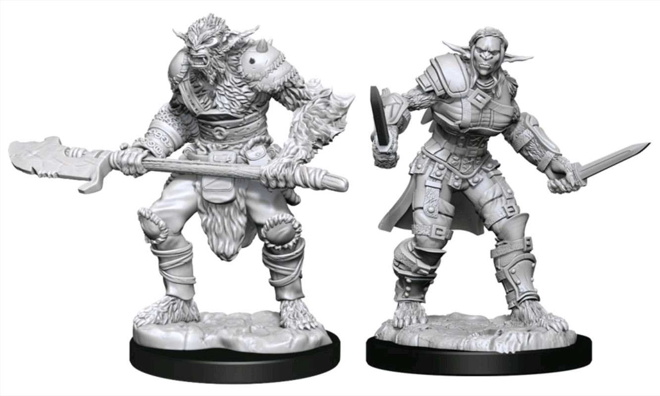 Dungeons & Dragons - Nolzur's Marvelous Unpainted Minis: Bugbear Barbarian Male & Rogue Female | Games
