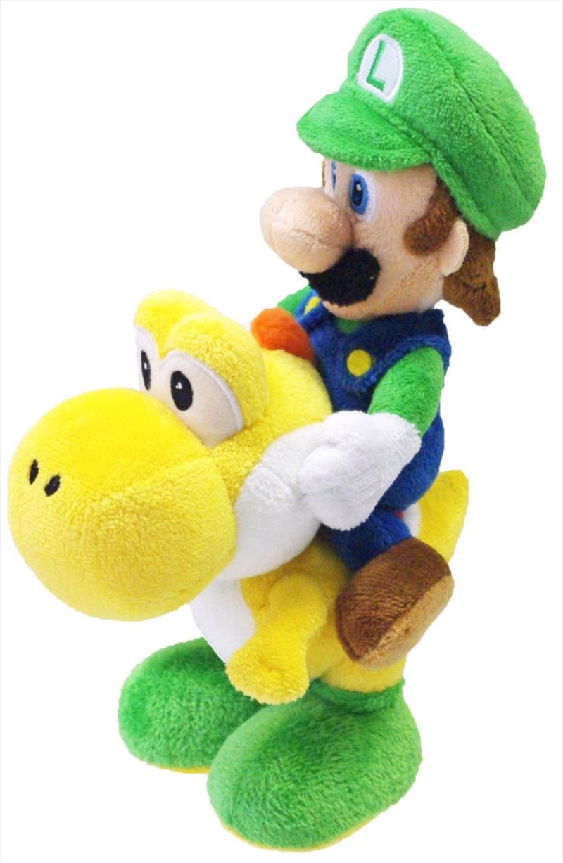 Super Mario Bros Plush Luigi Riding Yoshi 8'   Toy