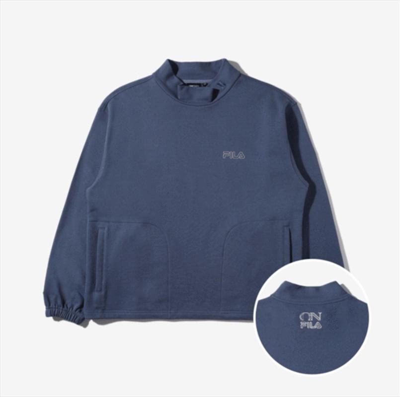 Now On - Blue Mockneck Sweatshirt   Merchandise