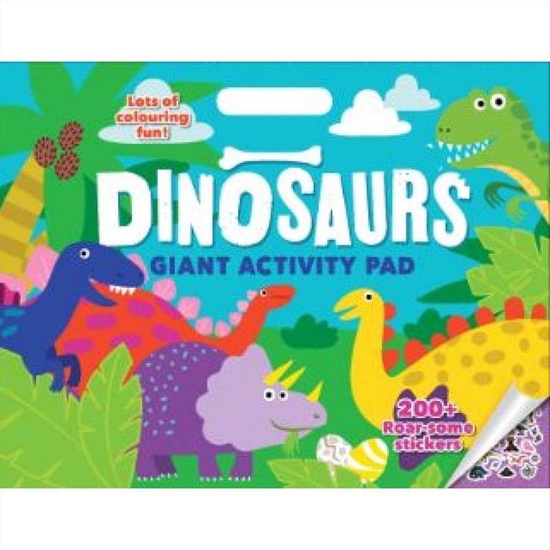 Dinosaur Giant Activity Pad | Paperback Book