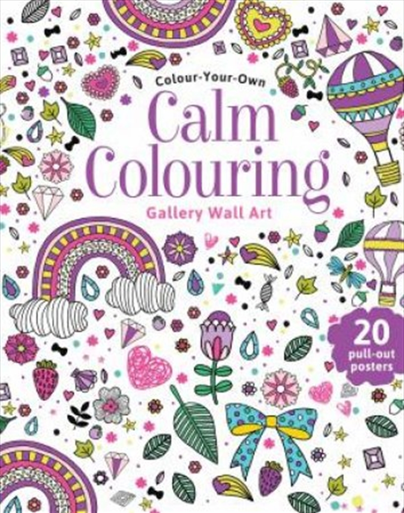 Calm Colouring Wall Art | Paperback Book