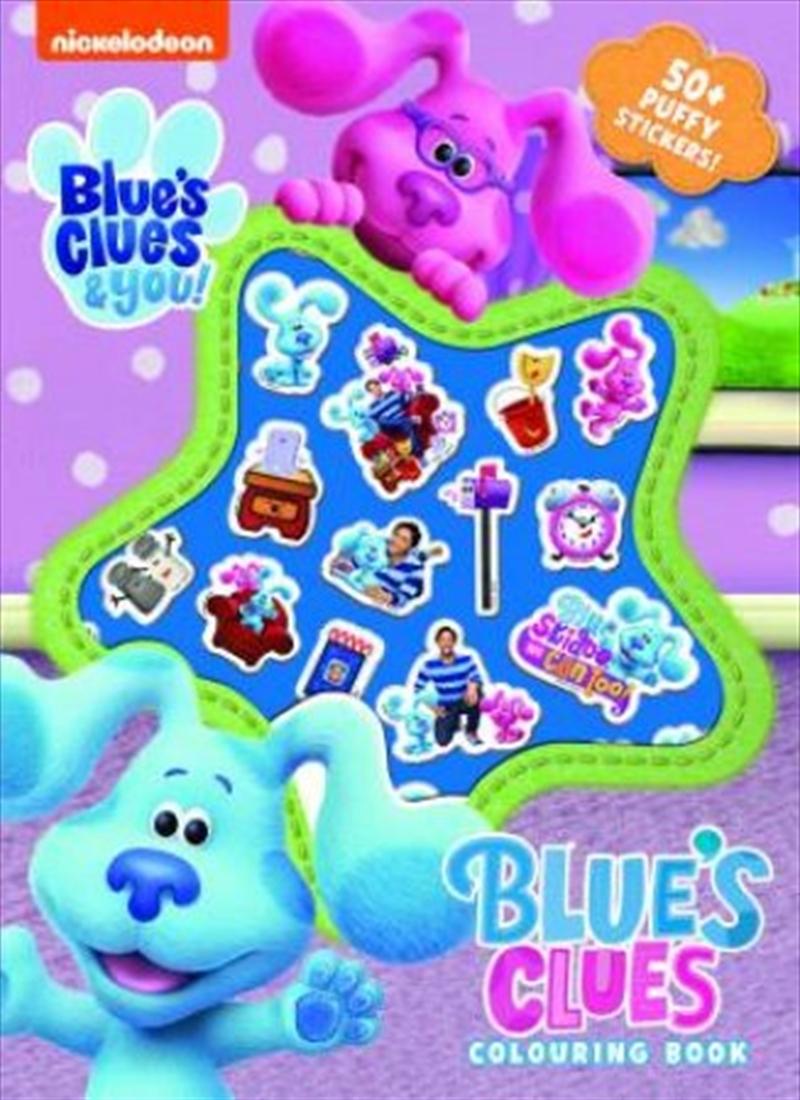Blues Clues Puffy Sticker   Paperback Book