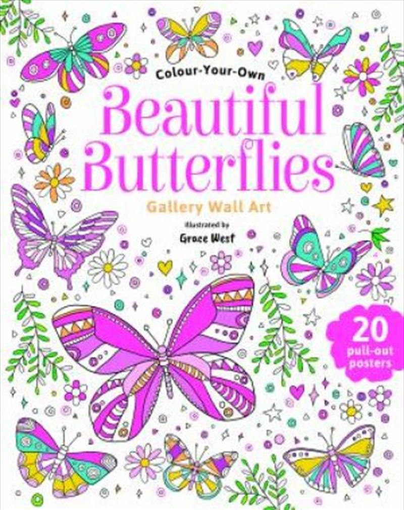 Beautiful Butterflies Wall Art | Paperback Book