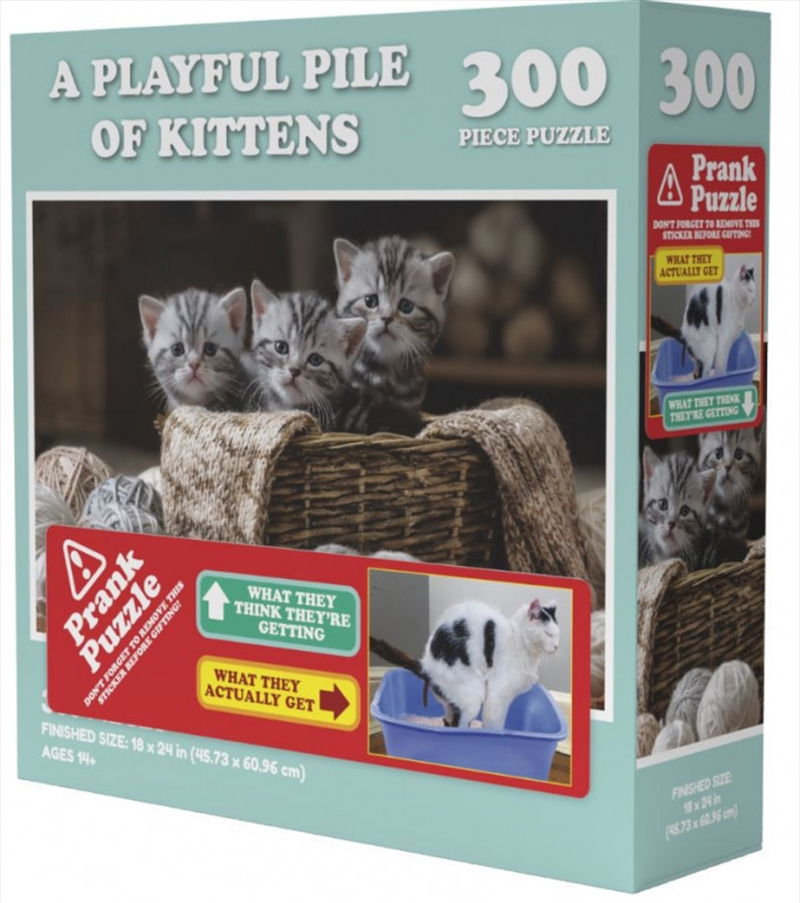 A Playful Pile Of Kittens Prank Puzzle 300 pieces | Merchandise