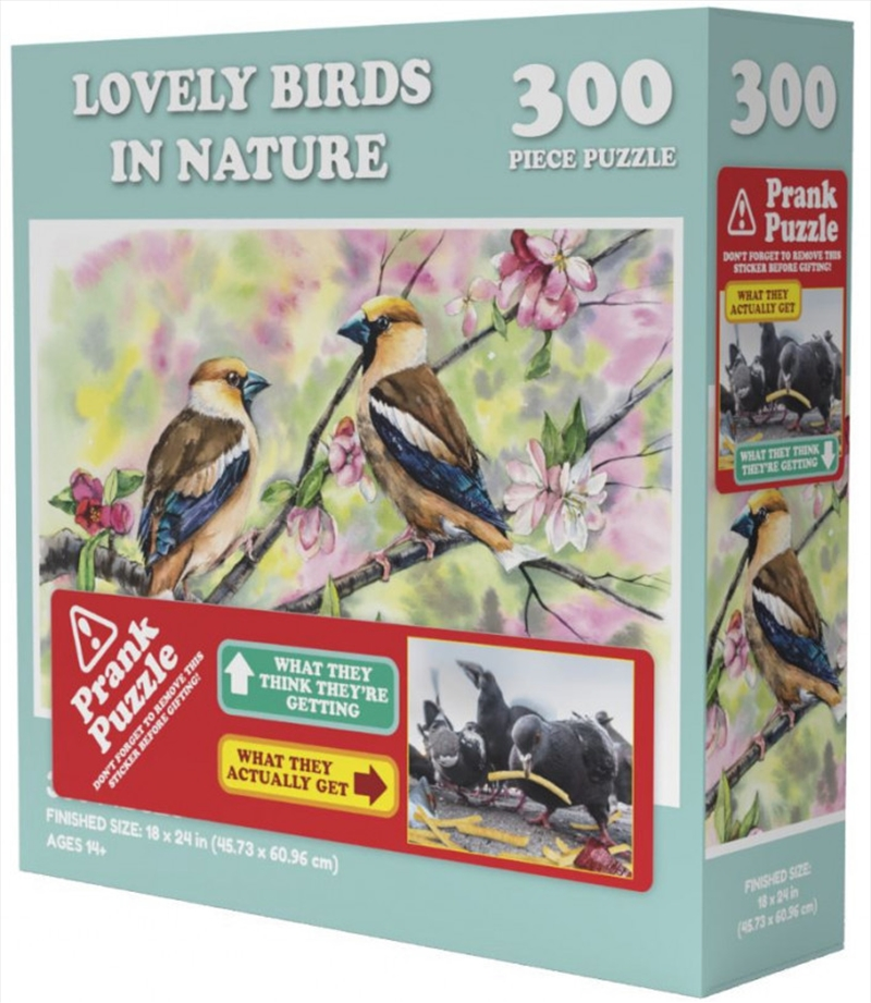 Lovely Birds In Nature Prank Puzzle 300 pieces | Merchandise