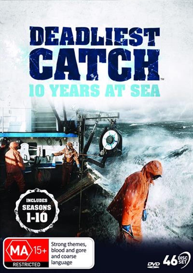 Deadliest Catch - 10 Years at Sea - Season 1-10   DVD